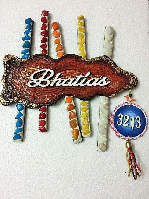 wooden name plates house office door wall flat bungalow plaques hand made hitchki dot in personalized gifts 0024