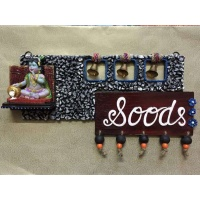 Krishna Wooden Name Plate  best nameplate for home