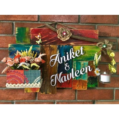 Essence Of Nature Wooden Name Plate  wooden name plates house office door wall flat bungalow plaques hand made hitchki dot in personalized gifts 0042