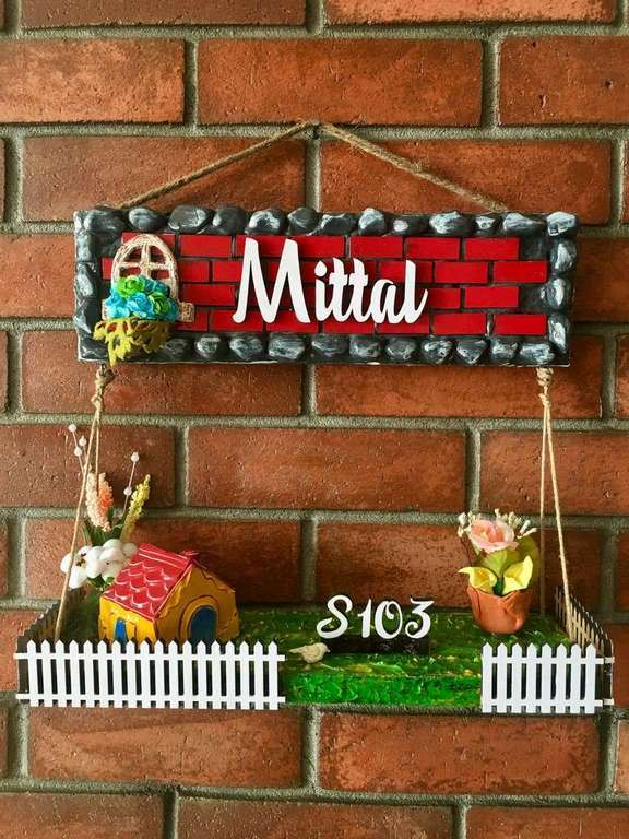 Dream House Wooden Nameplate for House or Office