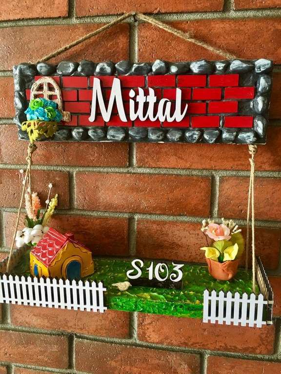 Dream House Wooden Name Plate  wooden name plates house office door wall flat bungalow plaques hand made hitchki dot in personalized gifts 0049