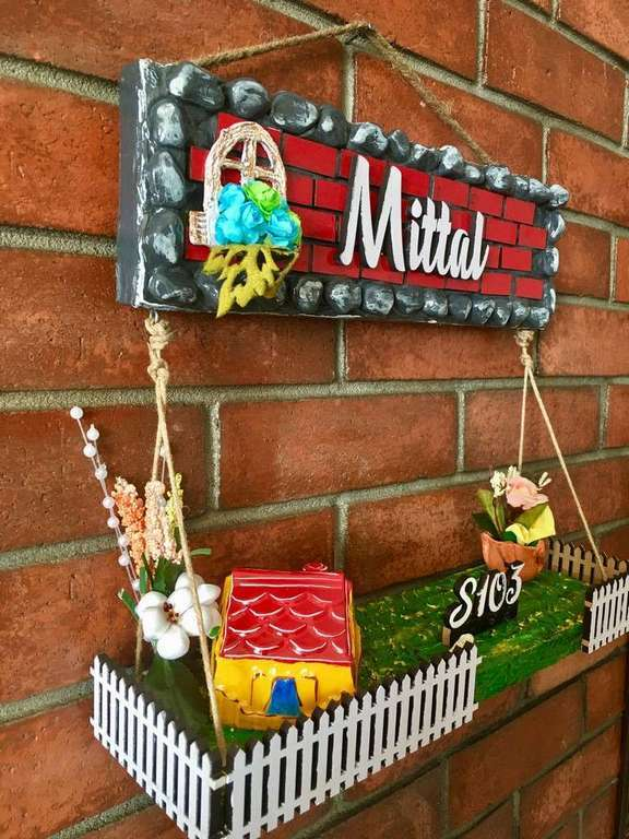 Dream House Wooden Name Plate  wooden name plates house office door wall flat bungalow plaques hand made hitchki dot in personalized gifts 0050