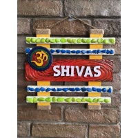 wooden name plates house office door wall flat bungalow plaques hand made hitchki dot in personalized gifts 0052