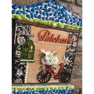 Beauty Of Spring Wooden Name Plate for Door  wooden name plates house office door wall flat bungalow plaques hand made hitchki dot in personalized gifts 0067