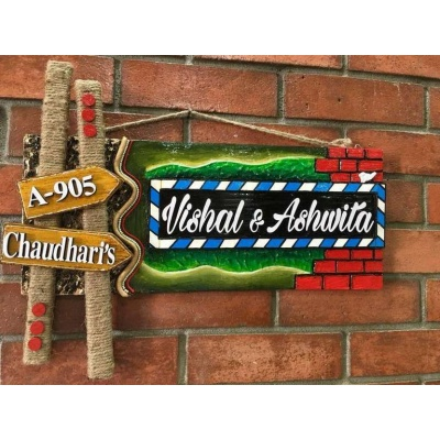 Sweet Home Wooden Name Plate  wooden name plates house office door wall flat bungalow plaques hand made hitchki dot in personalized gifts 0087