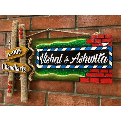 Sweet Home Wooden Name Plate  wooden personalized nameplates house office door wall flat bungalow plaques hand made hitchki dot in personalized gifts 0088