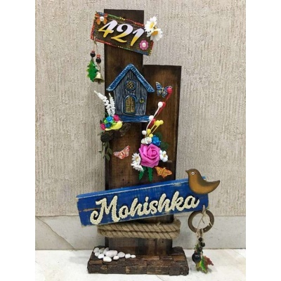 Mountain Hut Wooden Name plate  wooden name plates house office door wall flat bungalow plaques