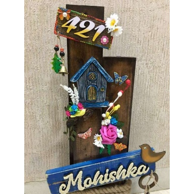Mountain Hut Wooden Name plate  wooden name plates house office door wall flat bungalow plaques hand made hitchki dot in personalized gifts 0092