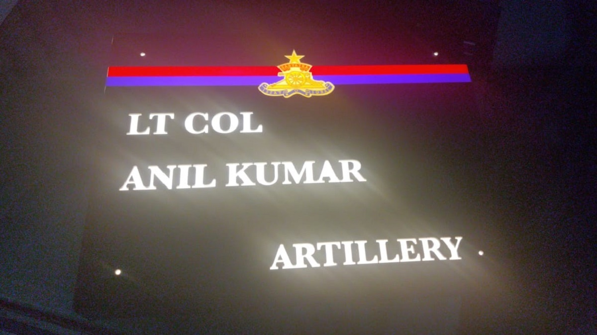 Acrylic LED Indian Armed Forces Name Plate  Acrylic LED Indian Armed Forces Name Plate  3
