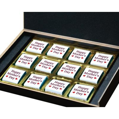 Personalized Mothers Day with Photograph Name and Message chocolate box  12 Pcs  3 Mothes 12B