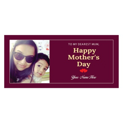 Personalized Mothers Day with Photograph Name and Message chocolate box  18 Pcs  3 Mothes 18D