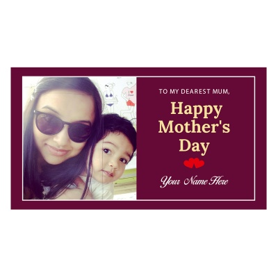 Personalized Mothers Day with Photograph Name and Message chocolate box  6 Pcs  3 Mothes 6D