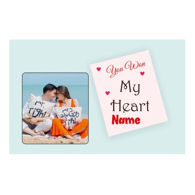 Valentine Day Chocolate Gift with Photo and Name 12 Pcs  3 VTDAY 12D