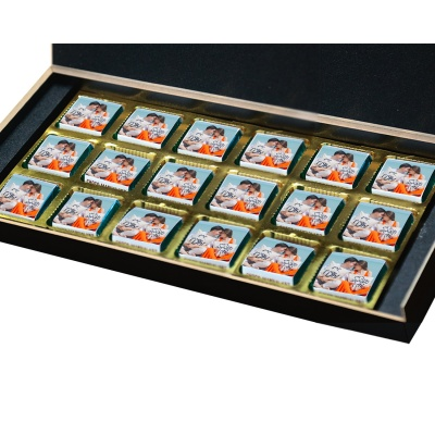 Valentine Day Chocolate Gift with Photo and Name 18 Pcs  3 VTDAY 18B
