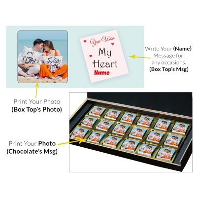 Valentine Day Chocolate Gift with Photo and Name 18 Pcs  3 VTDAY 18C