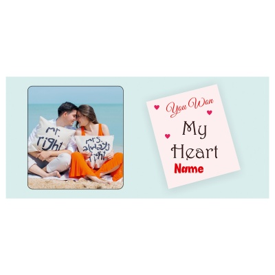 Valentine Day Chocolate Gift with Photo and Name 18 Pcs  3 VTDAY 18D