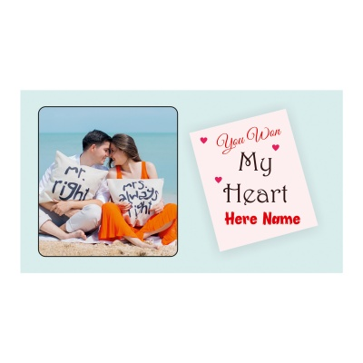 Valentine Day Chocolate Gift with Photo and Name 6 Pcs  3 VTDAY 6D