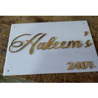 3D Embossed Acrylic Name Plate - 4