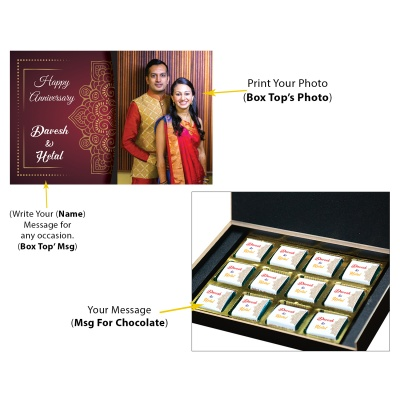 Anniversary Gift for Wife with her Name and Photo  12pcs  4 Anniversary 12C 1