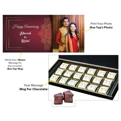 Anniversary Gift for Wife with her Name and Photo  18pcs  4 Anniversary 18C