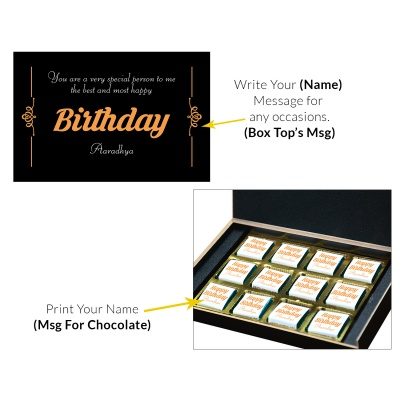 Chocolate Birthday Gift for Mom and Dad 12 Pcs  4 Birthday Gift 12C