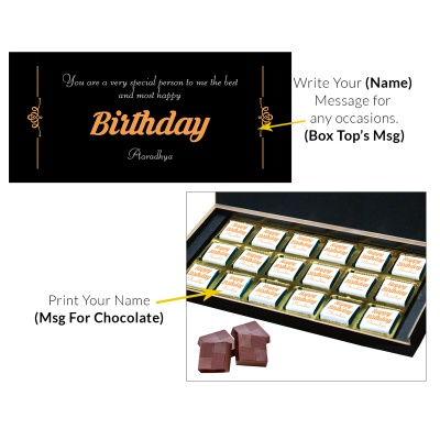 Happy Birthday Gift for Mother Father Brother Sister and Loved Chocolate Box 18 Pcs  4 Birthday Gift 18C