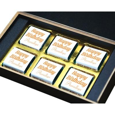 Custom Chocolate Gift Box For Mom And Dad 6 Pcs  4 Birthday Gift 6B