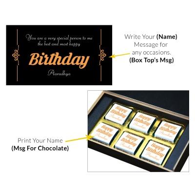Custom Chocolate Gift Box For Mom And Dad 6 Pcs  4 Birthday Gift 6C