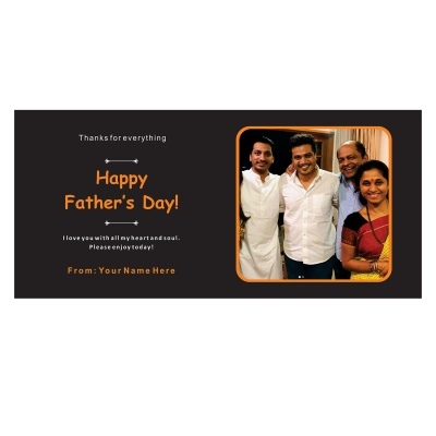 Personalized Fathers Day Chocolates Box with Photograph Name and Message 18 Pcs  4 Fathers 18D