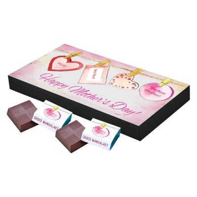 Personalized Mothers chocolate box  18 Pcs  Best Customized Printed Chocolate Box for Mothers