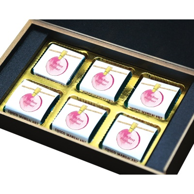 Personalized Mothers chocolate box  6 Pcs  4 Mothes 6B