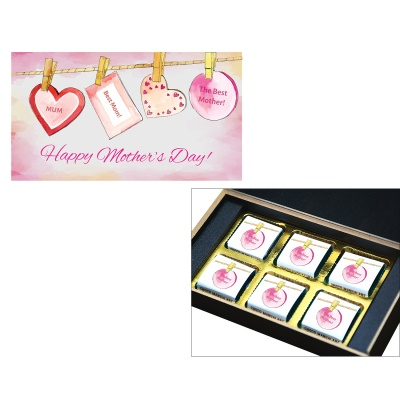Personalized Mothers chocolate box  6 Pcs  4 Mothes 6C