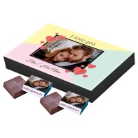Love Chocolate Box Gifts with Photos, and Names