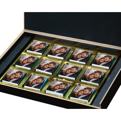 Love Gifts with Photo and Message Name Chocolate Box 12 Pcs  4 VTDAY 12B