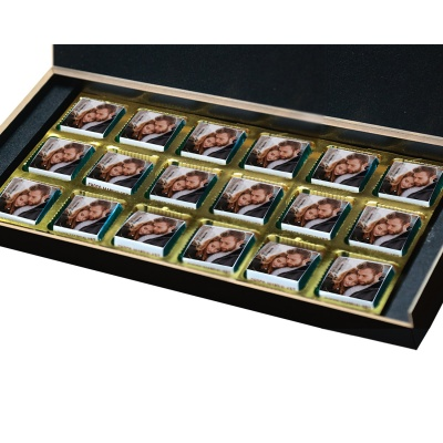 Love Gifts with Photo and Message Name Chocolate Box 18 Pcs  4 VTDAY 18B