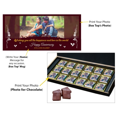 Anniversary Gift with Photo Message and Name Print on Them  18pcs  5 Anniversary 18C