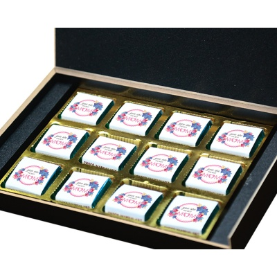 Personalized Mothers chocolate box  12 Pcs  5 Mothes 12B