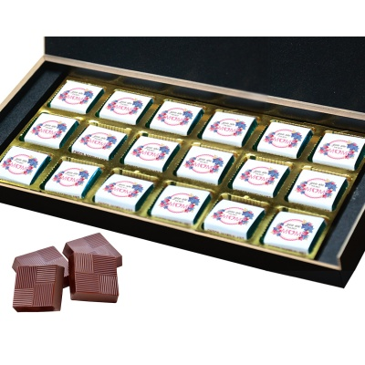 Personalized Mothers chocolate box  18 Pcs  5 Mothes 18B