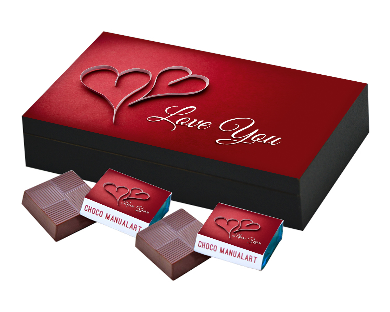 Valentines Day and I You Love Chocolates Gift  6pcs  Unique Printed Valentines Day Chocolate Gift Boxes