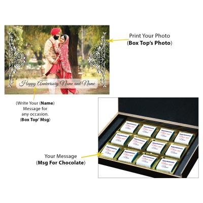 Anniversary Theme with Photo and Message Gift 12 Pcs  6 Anniversary 12C
