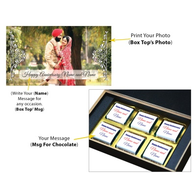 Anniversary Theme with Photo and Message Gift 6 Pcs  6 Anniversary 6C