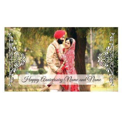 Anniversary Theme with Photo and Message Gift 6 Pcs  6 Anniversary 6D