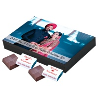 Chocolates with Name Photo and Message 12 Pcs  6 Birthday Gift 12A