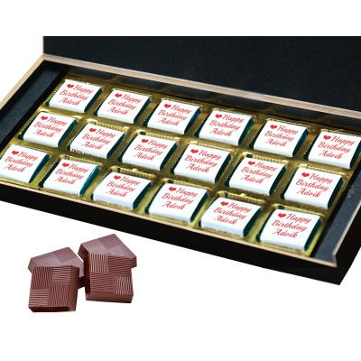 Chocolates with Name Photo and Message 18 Pcs  6 Birthday Gift 18B