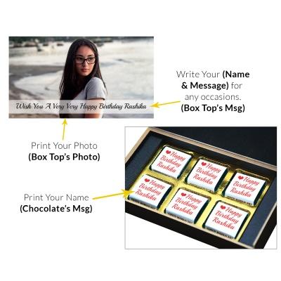 Customized Birthday Chocolate gift For Children 6 Pcs  6 Birthday Gift 6C