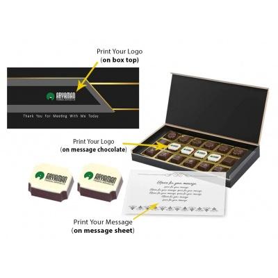 Personalized Chocolate Gift Box  18 Pcs  Customized Chocolate Gift Box for Festival