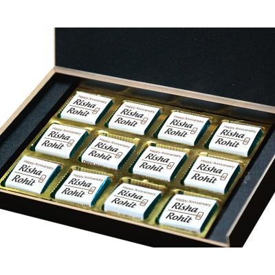 Personalised Wooden Chocolate Box With Photo 12 Pcs  7 Anniversary 12B