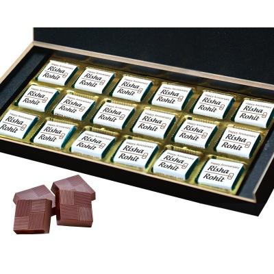 Personalised Wooden Chocolate Box With Photo 18 Pcs  7 Anniversary 18B