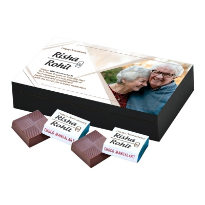 Personalised Wooden Chocolate Box With Photo 6 Pcs  Personalized Wooden Chocolate Box With Photo