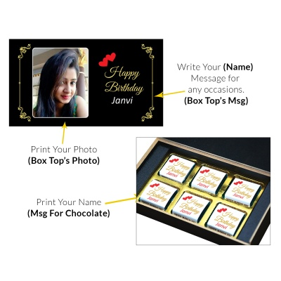 SendDeliver Personalized chocolate Birthday Gifts 6 Pcs  7 Birthday Gift 6C